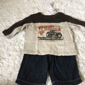 NWT Vintage Racing Outfit Size 3-6 months